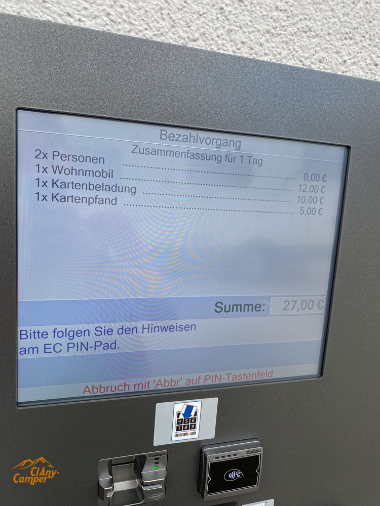 Wohnmobilpark Vulkaneifel Anmeldung Check-In